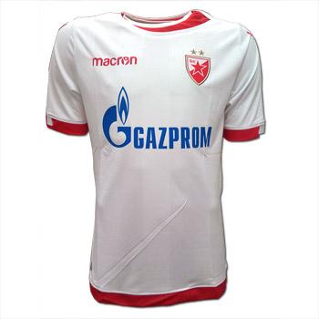 Macron white FC Red Star jersey 2017 18   Delije Shop f3d8d9172