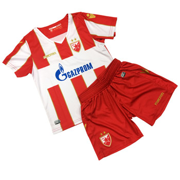 a80a87163 Macron kids kit red-white jersey and shorts 18 19   Delije Shop