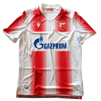 Macron Kids Home Fc Red Star Jersey For Champions League 2019 2020 Delije Shop
