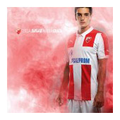 Puma red and white FC Red Star jersey 2014/15